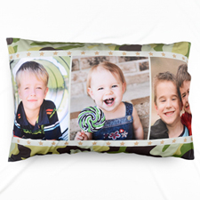 Three Collage Personalised Photo Pillowcase
