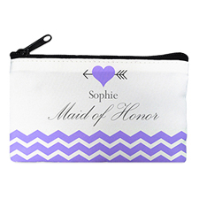Plum Love Arrow Personalised Cosmetic Bag, 4