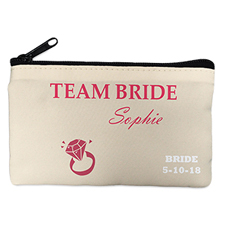 Wedding Ring Personalised Cosmetic Bag