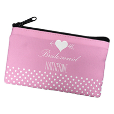 Arrow Heart Personalised Cosmetic Bag