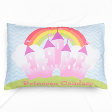 Pink Castle Personalised Name Pillowcase