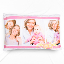 Floral Photo Collage Personalised Pillowcase