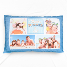 Hello Summer Photo Collage Personalised Pillowcase