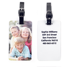 Custom Photo with your Contact Luggage Tag