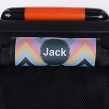 Colourful Chevron Personalised Luggage Handle Wrap