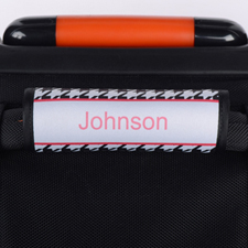 Black Hounds Tooth Personalised Luggage Handle Wrap