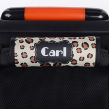 Leopard Personalised Luggage Handle Wrap
