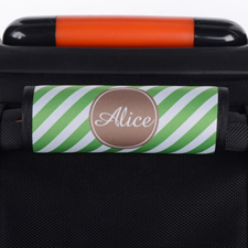 Green Stripe Personalised Luggage Handle Wrap
