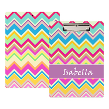 Colourful Chevron Personalised Clipboard