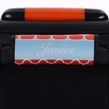 Red Clover Personalised Luggage Handle Wrap