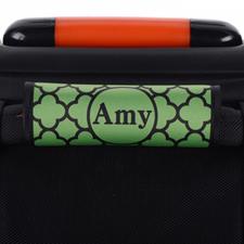 Green Clover Personalised Luggage Handle Wrap
