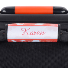 Watercolour Floral Personalised Luggage Handle Wrap