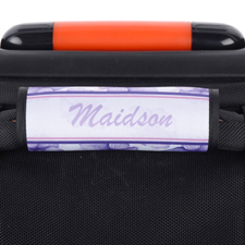 Purple Pansy Personalised Luggage Handle Wrap