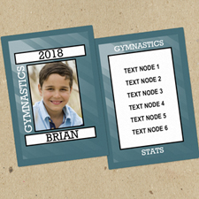 Gymnastics Personalised Photo Trading Cards  Set Of 12