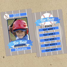 Tee Ball Personalised Photo Trading Cards  Set Of 12