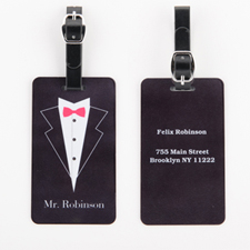 Mr. Personalised Wedding Luggage Tag