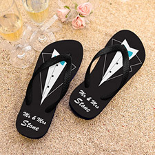 Mr. Personalised Wedding Flip Flops, Kid's Medium