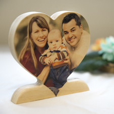 Personalised Wooden Photo Heart For mum Decor