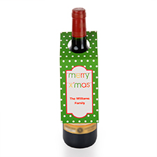 Banner Merry X'Mas Personalised Wine Tag, set of 6