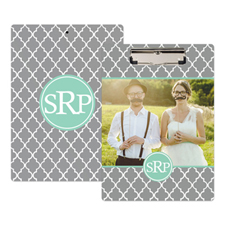 Grey Clover Photo Personalised Clipboard