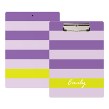 Purple Stripe Personalised Clipboard