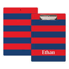 Red Navy Stripe Personalised Clipboard