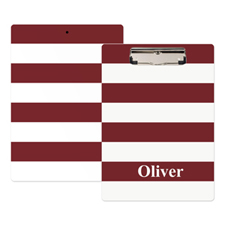 Red White Stripe Personalised Clipboard