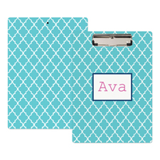 Aqua Clover Personalised Clipboard