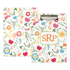 Bright Floral Personalised Clipboard