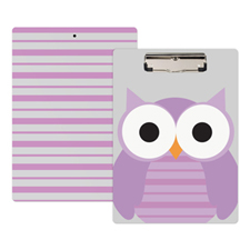 Cute Owl Personalised Clipboard