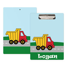 Kids Truck Personalised Clipboard