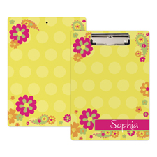 Flower Garden Personalised Clipboard