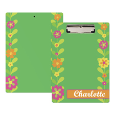 Cute Flower Personalised Clipboard