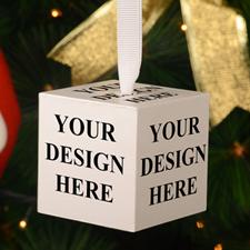 Custom Full Colour Imprint Wood Cube 2