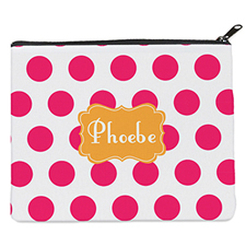 Pink Dot Orange Personalised 8