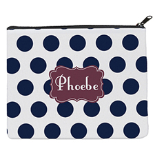 Navy Dot Plum Personalised 8