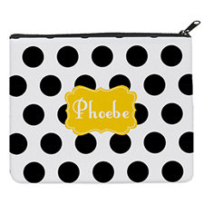 Black Dot Yellow Personalised 8