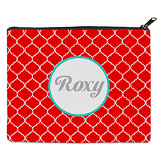 Red Quatrefoil Personalised 8