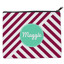 Plum Stripe Personalised 8
