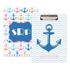 Chevron Anchor Personalised Clipboard