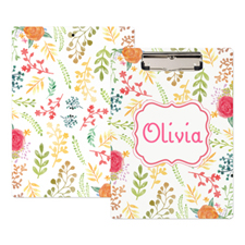 Watercolour Floral Personalised Clipboard