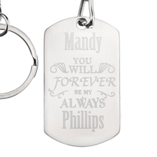 Forever Personalised Dog Tag Keychain