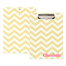 Gold Chevron Personalised Clipboard
