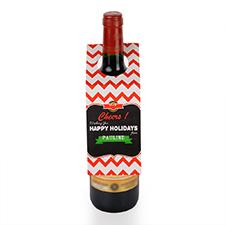 Chalkboard Cheers Personalised Wine Tag, set of 6
