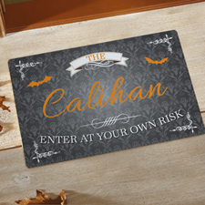 Enter At Your Own Risk Personalised Doormat