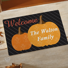 Fall Welcome Personalised Doormat