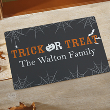 Trick Or Treat Personalised Doormat