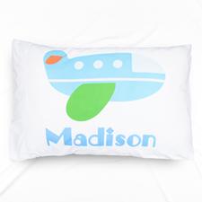 Airplane Personalised Name Pillowcase