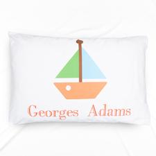 Boat Personalised Name Pillowcase