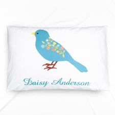 Blue Bird Personalised Name Pillowcase